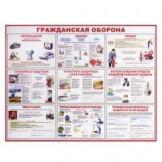 Доска-стенд информационная 'Гражданская оборона', 910х700 мм, пластик