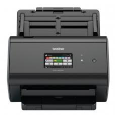 Сканер потоковый BROTHER ADS-2800W, А4, 1200х1200, 60 стр./мин., 3000 стр./день, АПД, сетевая карта, Wi-Fi кабель USB в компл., ADS2800WUX1