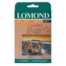 Фотобумага LOMOND для струйной печати, А6, 230 г/м2, 50 л., односторонняя матовая, 10х15 см, 0102034
