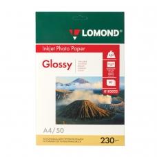 Фотобумага LOMOND для струйной печати, А4, 230 г/м2, 50 л., односторонняя глянцевая, 0102022