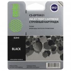 Картридж струйный CACTUS CS-EPT0921 для EPSON Stylus C91/CX4300/T26/T27/TX106, черный