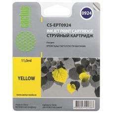 Картридж струйный CACTUS CS-EPT0924 для EPSON Stylus C91/CX4300/T26/T27/TX106, желтый