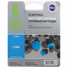 Картридж струйный CACTUS CS-EPT0922 для EPSON Stylus C91/CX4300/T26/T27/TX106, голубой