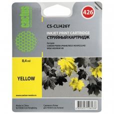 Картридж струйный CACTUS CS-CLI426Y для CANON Pixma MG5140/MG5240/MG6140/MG8140, желтый