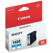 Картридж струйный CANON PGI-1400XLС МВ2040/МВ2340, голубой, оригинальный, ресурс 900 стр., 9202B001