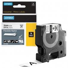 Картридж для принтеров этикеток DYMO Rhino, 19 мм х 3,5 м, лента нейлоновая, чёрный шрифт, неровная поверхность, белая, 18489