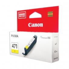 Картридж струйный CANON CLI-471Y PIXMA MG5740/MG6840/MG7740, желтый, оригинальный, ресурс, 323 стр., 0403C001