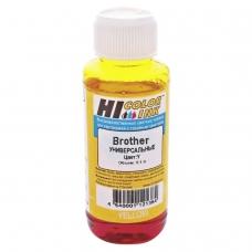 Чернила HI-COLOR для BROTHER универсальные, желтые, 0,1 л, водные, 1507010395U