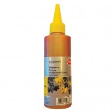 Чернила CACTUS CS-GI490Y для СНПЧ CANON Pixma G1400/G2400/G3400, желтые, 0,1 л