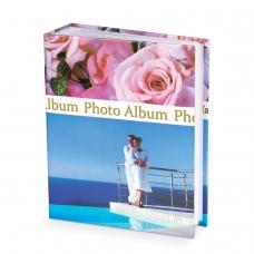 Фотоальбом BRAUBERG на 300+4 фотографии 10х15 см, твердая обложка, Романтика, голубой с розовым, 390675
