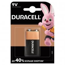 Батарейка DURACELL Basic, 6LR61 КРОНА, Alkaline, 1 шт., в блистере, 9 В