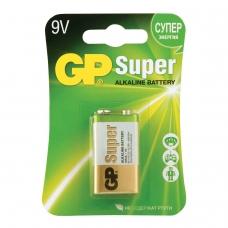 Батарейка GP Super, Крона 6LR61, 6LF22, 1604A, алкалиновая, 1 шт., в блистере, 1604A-BC1