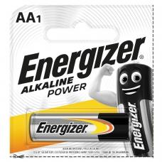 Батарейка ENERGIZER Power, AA LR6, 1шт., АЛКАЛИНОВАЯ, в блистере, 1,5 В работает до 10 раз дольше, E300140300