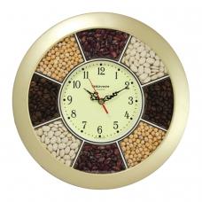 Часы настенные TROYKA 11171141, круг, 'Часы-специи', золотая рамка, 29х29х3,5 см