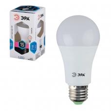 Лампа светодиодная ЭРА, 15 130 Вт, цоколь E27, грушевидная, холодный белый свет, 25000 ч., LED smdA60-15w-840-E27, Б0020593
