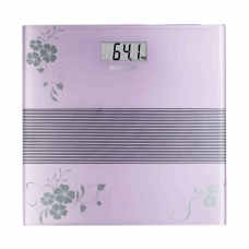 Весы напольные SCARLETT SC-BS33E060, электронные, максимальная нагрузка 150 кг, квадрат, стекло с рисунком, SC - BS33E060