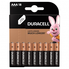 Батарейки DURACELL Basic, AAA LR03, 24А, алкалиновые, КОМПЛЕКТ 18 шт., в блистере, 81483686