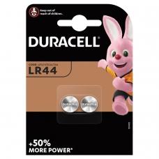 Батарейки DURACELL, LR44 V13GA, 76A, алкалиновые, КОМПЛЕКТ 2 шт., в блистере, 81488664