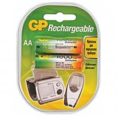 Батарейки аккумуляторные GP, АА, Ni-Mh, 1800 mAh, комплект 2 шт., в блистере, 180AAHC-2DECRC2