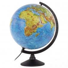 Глобус физический/политический Globen Классик, диаметр 320 мм, с подсветкой, рельефный, К013200223
