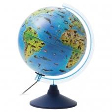 Глобус зоогеографический GLOBEN 'Классик Евро', диаметр 250 мм, с подсветкой, детский, Ке012500270