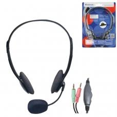 Наушники с микрофоном гарнитура DEFENDER HN-102, проводная, 1,8 м, стерео, с оголовьем, регулятор громкости, 63102