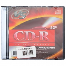 Диск CD-R VS, 700 Mb, 52x, Slim Case, VSCDRSL01