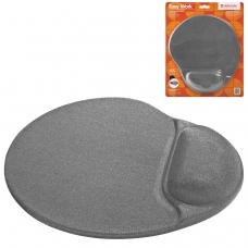 Коврик для мыши DEFENDER Easy Work, полиуретан+покрытие лайкра, 260х225х5 мм, серый, 50915