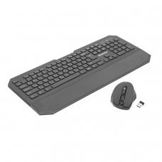 Набор беспроводной DEFENDER Berkeley C-925, клавиатура, мышь 4 кнопки + 1 колесо + 1 dpi, черный, 45925