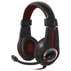 Наушники с микрофоном гарнитура DEFENDER Warhead G-185, проводные, 2 м, стерео, чёрно-красные, 64106