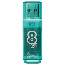 Флэш-диск 8 GB, SMARTBUY Glossy, USB 2.0, зеленый, SB8GBGS-G