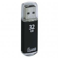 Флэш-диск 32 GB, SMARTBUY V-Cut, USB 2.0, металлический корпус, черный, SB32GBVC-K