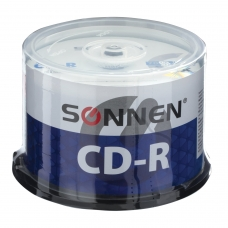 Диски CD-R SONNEN 700 Mb 52x Cake Box, КОМПЛЕКТ 50 шт., 512570
