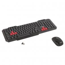 Набор беспроводной SONNEN WKM-1811, клавиатура 112 клавиш мультимедиа, мышь 4 кнопки, черный