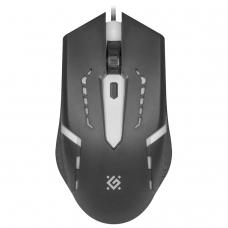 Мышь проводная DEFENDER Flash MB-600L, 800-1200 dpi, 4 кнопки + 1 колесо-кнопка, оптическая, черная, 52600