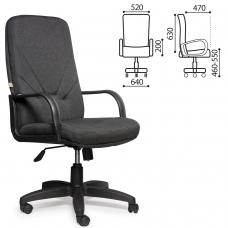 Кресло офисное 'Менеджер', ткань, монолитный каркас, серое С-73, В-40