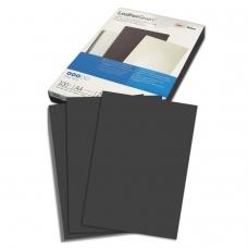 Обложки для переплета GBC Англия, комплект 100 шт., LeatherGrain тиснение под кожу, A4, картон, черные, 040010/4401980