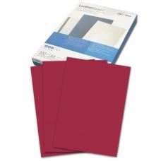 Обложки для переплета GBC Англия, комплект 100 шт., LeatherGrain тиснение под кожу, A4, картон, темно-красные, 040031/4401982