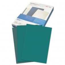 Обложки для переплета GBC Англия, комплект 100 шт., LeatherGrain тиснение под кожу, A4, картон, зеленые, CE040045