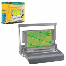 Переплетная машина для металлической пружины FELLOWES QUASAR WIRE, пробивает 15 л., сшивает 130 л., FS-5224101