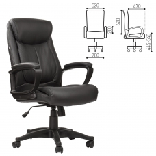 Кресло офисное BRABIX Enter EX-511, экокожа, черное, 530859
