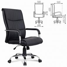 Кресло офисное BRABIX 'Space EX-508', экокожа, хром, черное, 530860