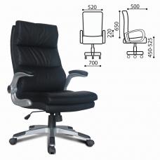 Кресло офисное BRABIX 'Fregat EX-510', рециклированная кожа, черное, 530863