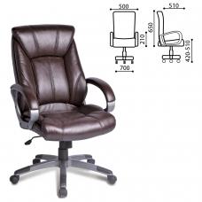 Кресло офисное BRABIX Maestro EX-506, экокожа, коричневое, 530878