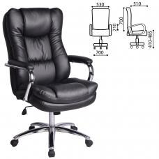 Кресло офисное BRABIX 'Amadeus EX-507', рециклированная кожа, хром, черное, 530879