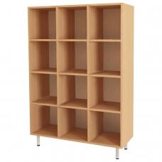 Шкаф для горшков, 12 отделений, 900х330х1200 мм, ЛДСП, бук бавария