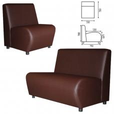 Кресло 'V-600', 780х550х750 мм, без подлокотников, экокожа, коричневое
