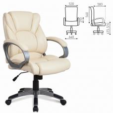 Кресло офисное BRABIX 'Eldorado EX-504', экокожа, бежевое, 531167