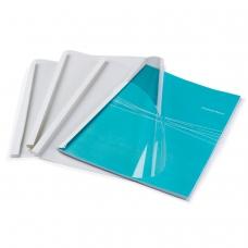 Обложки для термопереплета FELLOWES, комплект 100 шт., А4, 8 мм, 61-80 л., верх - прозрачный ПВХ, низ - картон, FS-53912
