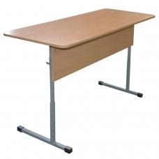 Стол-парта 2-местный регулируемый Бюджет, 1200х500х520-640 мм, рост 2-4, серый каркас, ЛДСП бук